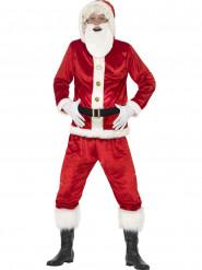 Costume Babbo Natale con pancia grande e chip sonoro adulto