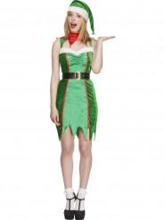 Costume elfo con sonagli sexy donna Natale