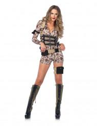 Costume sexy militare pixel donna