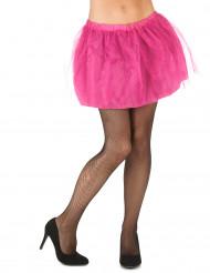 Tutù rosa con sottogonna opaca da donna