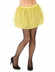 Tutù giallo con sottogonna opaca da donna