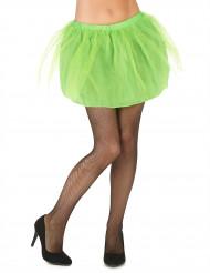 Tutù verde con sottogonna opaca da donna