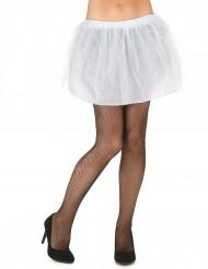 Tutù bianco con sottogonna opaca da donna