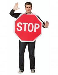 Costume pannello Stop adulto