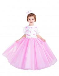 Costume da Principessa rosa di tulle per bambina - Premium