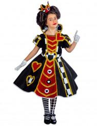 Costume da dama dei Cuori per bambina - premium