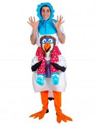 Costume bebè portato dalla cicogna adulti