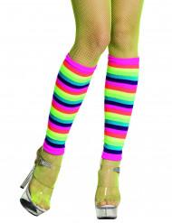 Gambali arcobaleno fluo adulti
