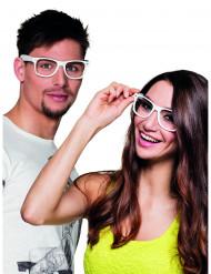 4 occhiali bianchi per adulto