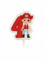 Candela compleanno pirata numero 4