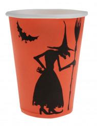 10 bicchieri di cartone strega Halloween