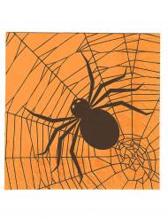 20 tovaglioli di carta ragni Halloween