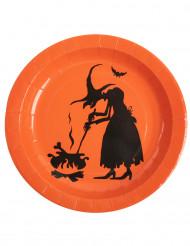 10 piatti di cartone strega Halloween