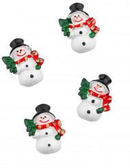 6 pupazzi di neve adesivi 3 cm
