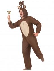 Costume renna con cappuccio Adulto