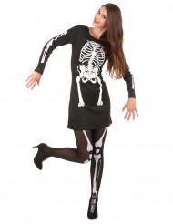 Costume scheletro Halloween donna
