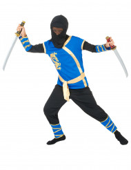 Costume da ninja blu e dorato per bambino