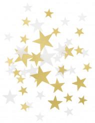 Coriandoli stelle dorate e bianche