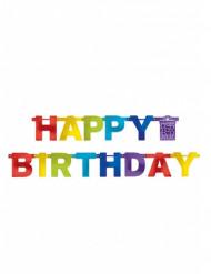 Ghirlanda Happy Birthday multicolore 219 cm.