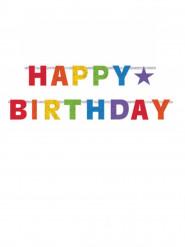 Ghirlanda articolata Happy Birthday colorata