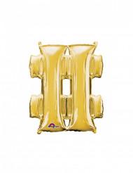 Palloncino in alluminio simbolo hastag # argento