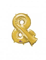 Palloncino in alluminio simbolo & dorato