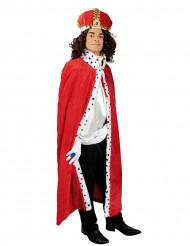 Mantello da re rosso per adulto