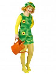 Costume giardiniera con girasole per donna