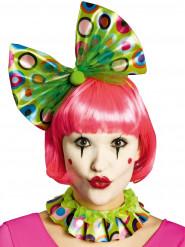 Colletto e cerchietto clown verde per adulto