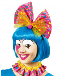 Colletto e cerchietto clown rosa a pois Adulto