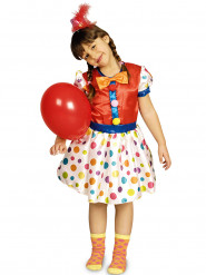 Costume da clown a pois per bambina