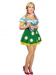 Costume da froilen bavarese con fiori per donna