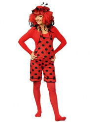 Costume salopette coccinella donna