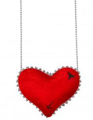 Borsa cuore rosso
