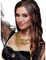 Collana da ballerina orientale dorata per adulto