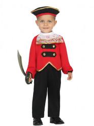 Costume comandante pirata bebè
