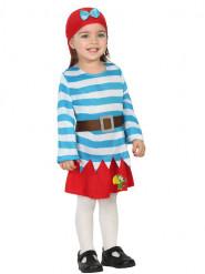 Costume marinaio pirata con gonnellina per bebè