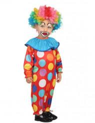 Costume piccolo clown a pois per bambino