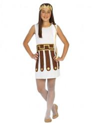 Costume da antica romana bianco per bambina
