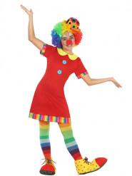 Costume da clown vestitino rosso per bambina
