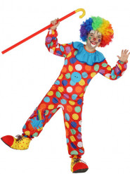 Costume clown multicolore a pois bambino