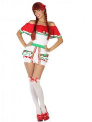 Costume corto messicano Donna
