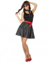 Costume Anni '50 nero a pois per donna