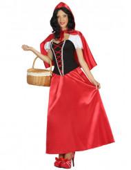 Costume vestito lungo Cappuccetto donna
