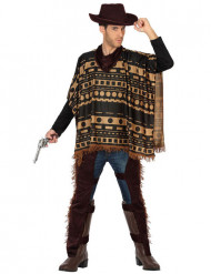 Costume poncho da cowboy per adulto