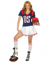 Costume a giocatore di football americano per donna