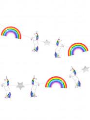 Festone unicorni e arcobaleni 3 m