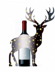 Decorazione per bottiglia a forma di cervo