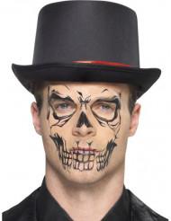 Tatuaggio temporaneo teshio per adulto Halloween