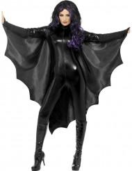 Mantello nero pipistrello donna